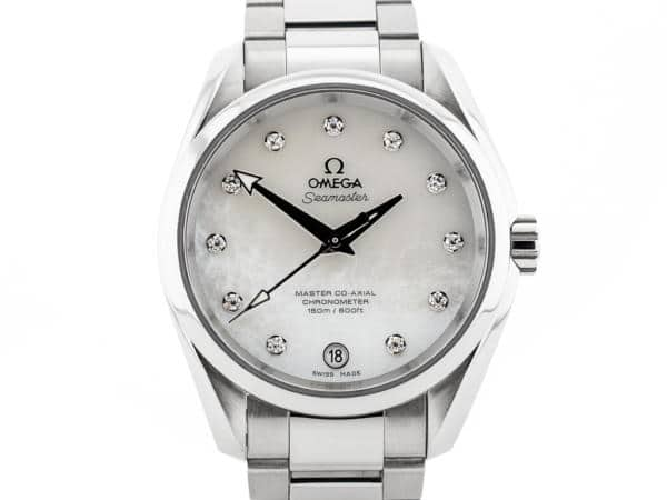 Preowned Omega Seamaster Aqua Terra Diamond Set Watch