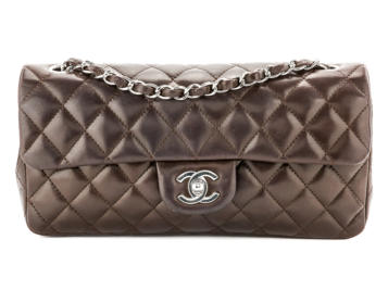 Preowned Chanel East West Flap Bag