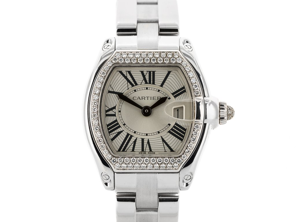 Preowned Cartier Roadster 18ct White Gold Watch