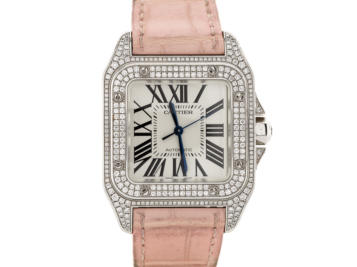 Preowned Cartier Santos 100 Diamond Watch